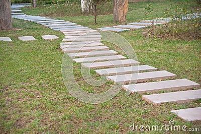 chemin en pierre dans le jardin formel image stock image 16433461. Black Bedroom Furniture Sets. Home Design Ideas