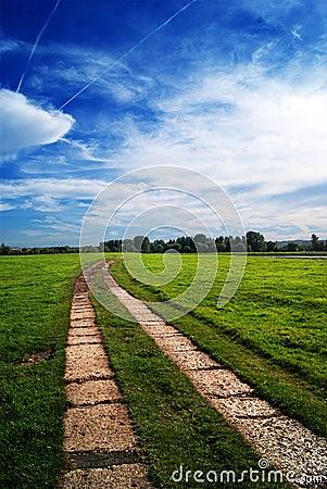 Chemin tourne-à-droite
