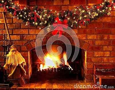 Cheminée de Noël