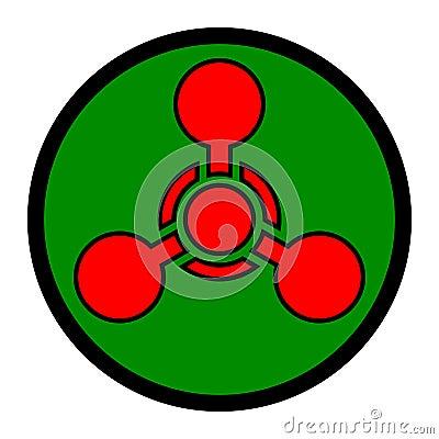 Chemische Waffen-Symbol