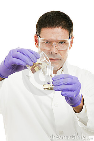 Chemist Measuring