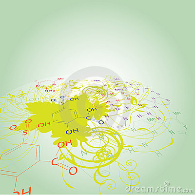 Free Chemistry Abstract Disign Royalty Free Stock Images - 9848799