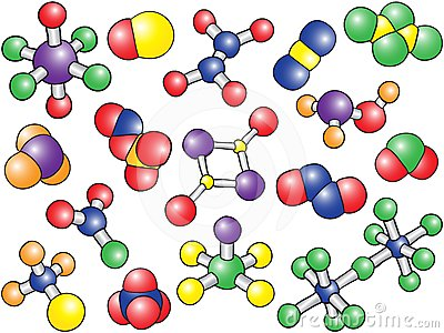 Chemistry background - colored molecule models