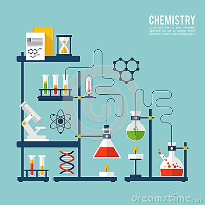 Free Chemistry Background Template Stock Images - 48588114