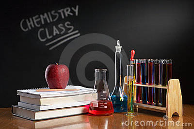Chemistry class concept