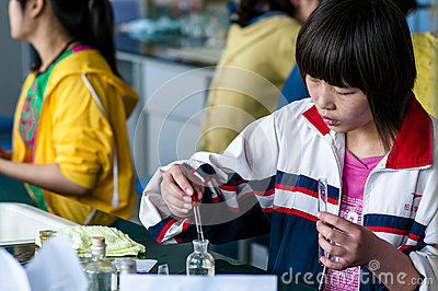 Chemistry experiments Editorial Stock Photo