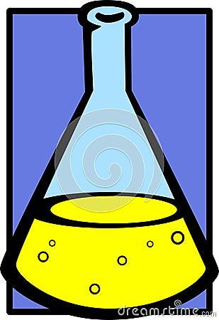 chemistry flask vector illustration