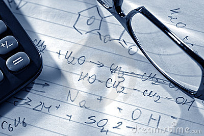Chemistry Formulas in Science Research Lab