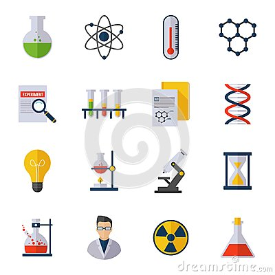 Free Chemistry Icon Flat Royalty Free Stock Photography - 48753587