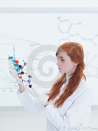 Chemistry lab molecular structure analysis