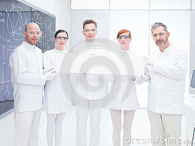 Chemistry lab scientist team