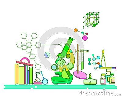 Chemistry. Vector Illustration