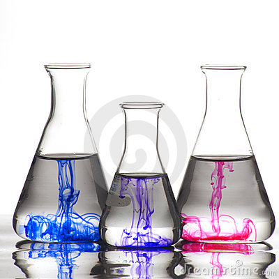 Free Chemistry Recipient With Ink Color Royalty Free Stock Image - 16944766