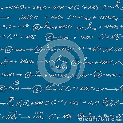 Free Chemistry Scribbles Blackboard Stock Image - 3064851