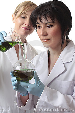 Chemists doing research