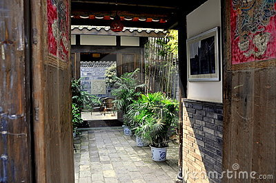 Chengdu, China: 18th Century House Courtyard