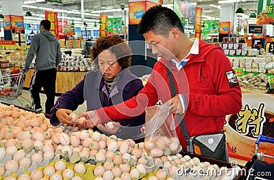 Chengdu,China: Chinese Shopping at Walmart Editorial Image