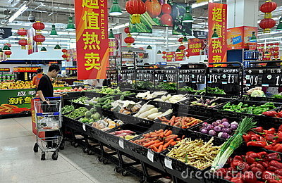 Chengdu, China: Walmart Supermarket Editorial Stock Image