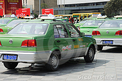Chengdu city vw cabs Editorial Stock Image