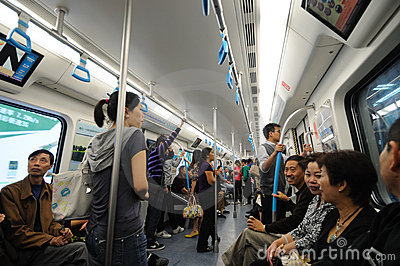 Chengdu metro line 1 Editorial Image