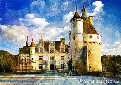 Chenonseau castle - painting style