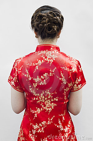 Cheongsam worn  during new year day