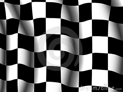 Chequered end-of-race flag