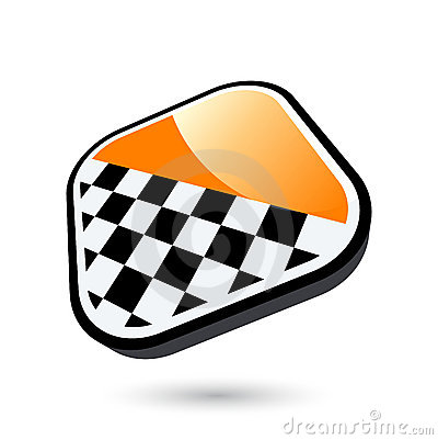 Chequered flag button