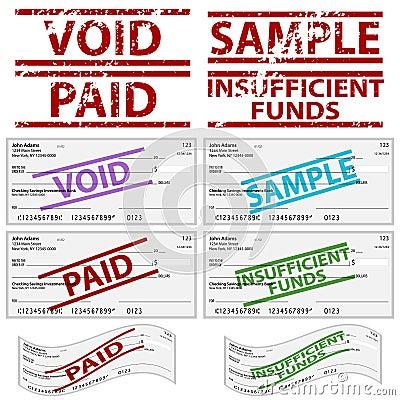 Cheques personales estampados