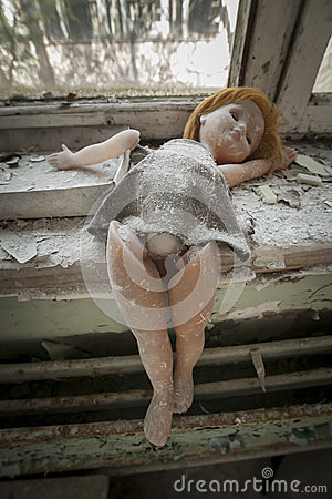 Free Chernobyl - Doll Placed Near A Window Stock Images - 56672474
