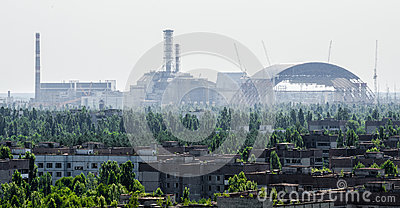 Chernobyl Nuclear Reactor and New Sarcophagus