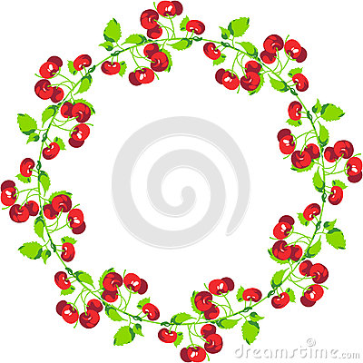 Free Cherries Circle Shape Royalty Free Stock Photography - 83548327
