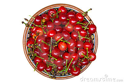 Cherries on the dish