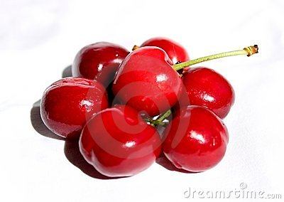 cherries, fresh and delicious composition