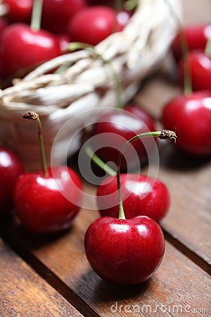 Free Cherries In A Bag 2 Stock Images - 25480604