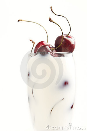 Free Cherries In Milk Royalty Free Stock Image - 15380026