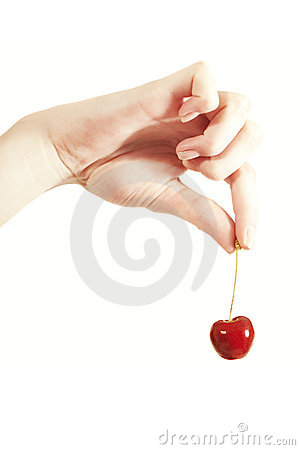 Free Cherries In The Women S Hand Stock Photo - 15911700
