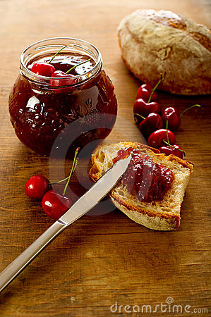Free Cherries Jam Stock Photography - 14694622