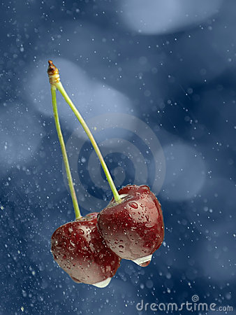 Cherries in the rain