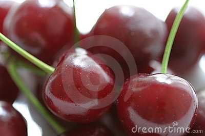 Cherries on stems