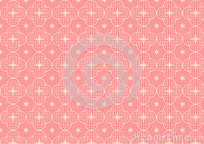 Cherry Blossoms or Sakura Pattern on Pastel Color