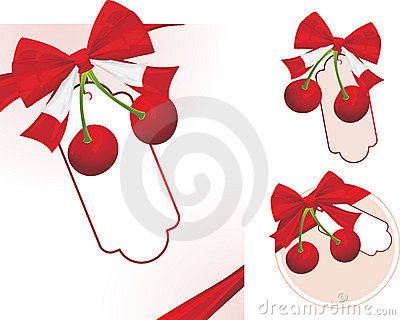 Cherry with bow