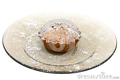 Cherry cake with sugar powder