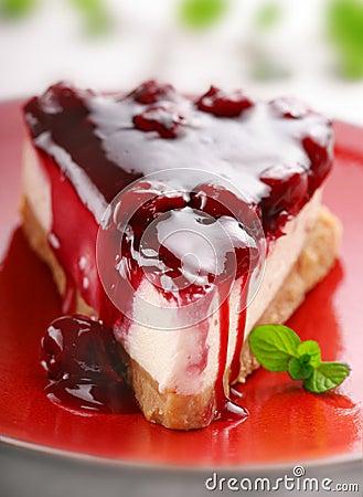 Free Cherry Cheesecake Stock Image - 3972591