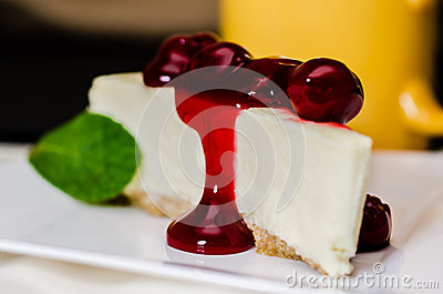 Cherry Cheesecake and Coffee