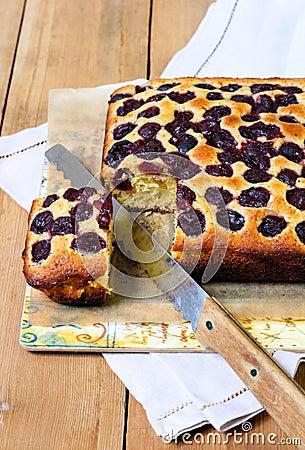 Cherry Cornmeal Cake Royalty Free Stock Photos - Image ...