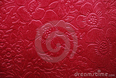 Cherry fabric with floral designs