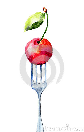 Cherry on the fork