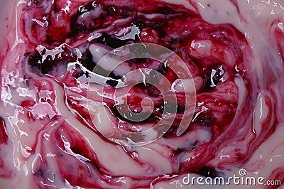 Cherry fruit Yoghurt macro