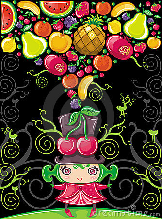 Free Cherry Girl (fruity Series) Royalty Free Stock Image - 14074826